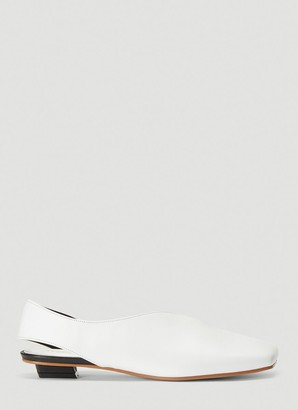 Flat Apartment Squared-Toe Slingback Shoes
