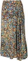 Victoria Beckham floral print skirt