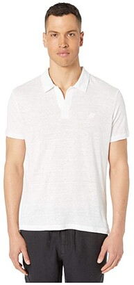 Vilebrequin Solid Linen Jersey Polo (White 1) Men's Clothing