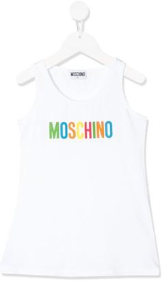 MOSCHINO BAMBINO Logo Printed Tank Top