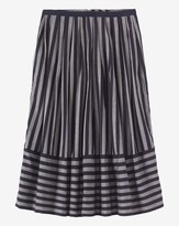 Black And Grey Striped Skirt - ShopStyle UK