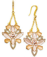 INC International Concepts I.n.c. Gold-Tone Pave & Colored Stone Chandelier Earrings, Created for Macy's