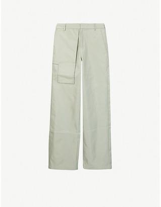 Pieces Uniques Trust straight satin trousers