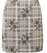 Dorothy Perkins Womens Floral Check Print Mini Skirt