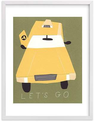 Pottery Barn Kids Let's Go Wall Art by Minted®, 11x14, Black