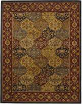 Safavieh Heritage Collection HG510A Handmade Multi and Navy Wool Area Rug, 7 feet 6 inches by 9 feet 6 inches