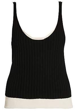 Bottega Veneta Women's Cashmere & Silk Double Layer Tank Top