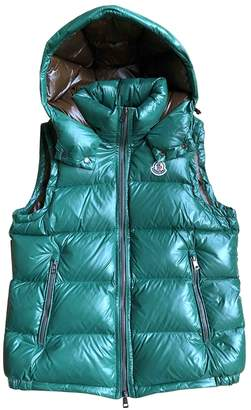 Moncler Sleeveless Green Coat for Women