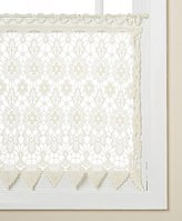 "Lorraine Home Fashions 00106-36-00010 Medallion Tailored Window Curtain Tier, 35"" x 36"", Ecru"