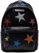 Stella McCartney Black Falabella Go glitter stars backpack