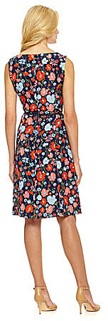 Jones New York Collection Summer Floral-Print Fit-and-Flare Dress