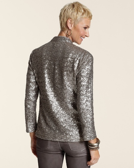 Chico's All Over Sequin Jacket