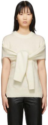 Helmut Lang Off-White Alpaca Sweater