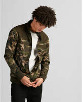 Express color block camo track jacket