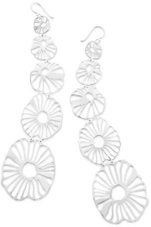 Ippolita 925 Classico Long Wavy Floral Earrings