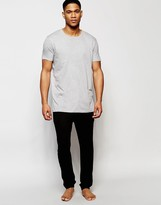 Asos Tapered Lounge Pants In Black Bamboo Fabric