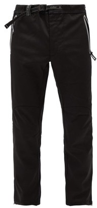 And Wander - Air Hold Belted Drawcord-cuff Trousers - Black