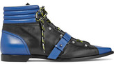 Emilio Pucci Quilted Leather Ankle Boots