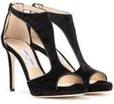 Jimmy Choo Lana 100 velvet sandals