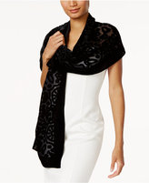 INC International Concepts Velvet Burnout Jacquard Scarf, Only at Macy's
