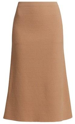 Totême Serpa Wool-Blend Knit A-Line Skirt