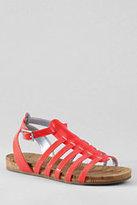 Lands' End Girls' Elektra Gladiator Sandals-Coral Bliss
