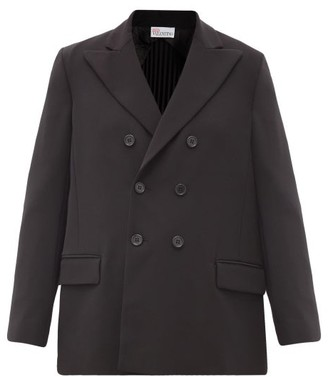 RED Valentino Double-breasted Pleated-back Crepe Jacket - Black
