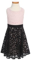 Milly Minis Toddler Girl's Lace Combo Dress