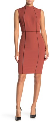 Alexia Admor Mock Neck Sheath Dress