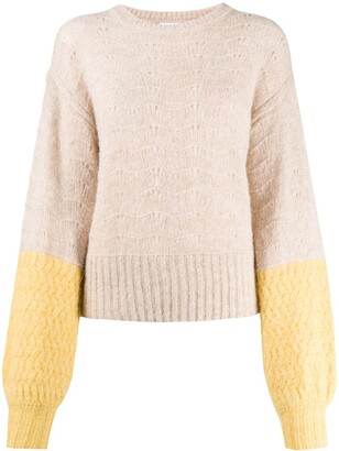 See by Chloe Colour-Block Balloon Knit Jumper