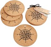 Kate Aspen Let the Journey Begin Cork Coasters (Set of 4)