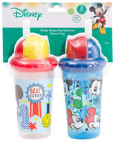2pk Mickey Mouse Straw Sippy Cup