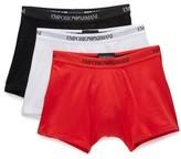 Emporio Armani 3 Pack Genuine Cotton Boxer Briefs