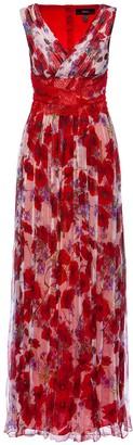 Nissa Silk Lace Band Application Maxi Dress