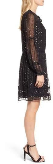 Velvet by Graham & Spencer Women's Split Neck Chiffon Dress