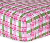 Trend Lab Plaid Flannel Fitted Crib Sheet in Pink/Green