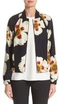 Lafayette 148 New York Women's Irelyn Reversible Silk Bomber Jacket