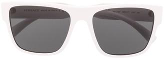 Versace Eyewear Polished-Finish Square-Frame Sunglasses