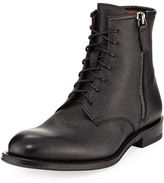 Aquatalia Victor Pebbled Leather Lace-Up Boot