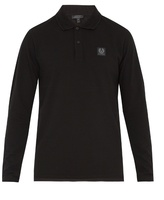 Belstaff Selbourne Long-sleeved Cotton-piqué Polo Shirt