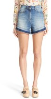 RED Valentino Women's Stone Washed Denim Shorts