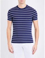 Armani Collezioni Stripe-print Stretch-jersey T-shirt