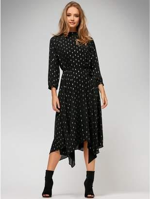 M&Co Sonder Studio spot print hanky hem dress