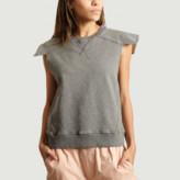 Maison Margiela Grey Cropped Sweatshirt - s | cotton | grey - Grey/Grey