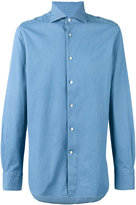 Ermenegildo Zegna pointed collar long sleeved shirt