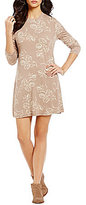 O'Neill Leona Printed Mock Neck Long-Sleeve Dress