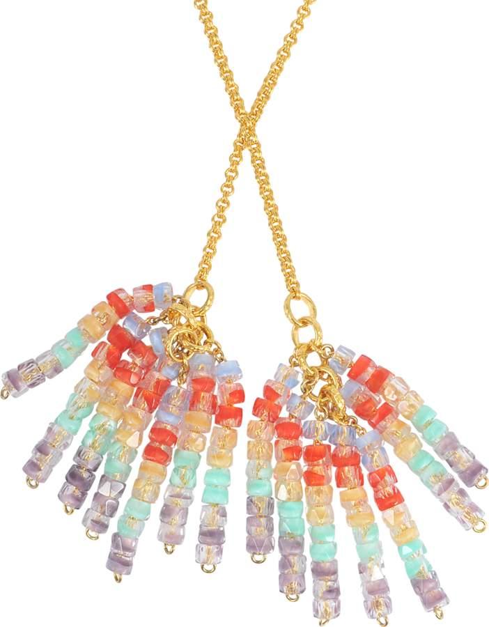Aris Geldis Tie sautoir with multicoloured beads