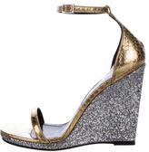 Saint Laurent Jane 105 Glitter Wedges