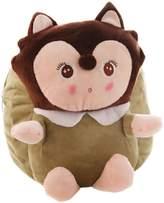 Panda Superstore Lovely Fox Dolls Toddler Backpack Infant Villus Knapsack Cute Baby Bag 1-3Y