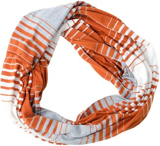 DII Tickled Pink Women's Striped Game Day T-Shirt Infintiy Scarf